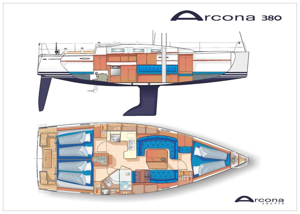 arcona 380 zeiljacht kopen kabin 1