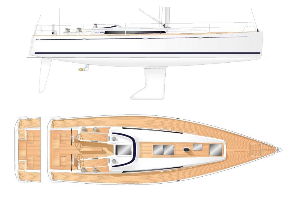 arcona 435 zeilboot deck