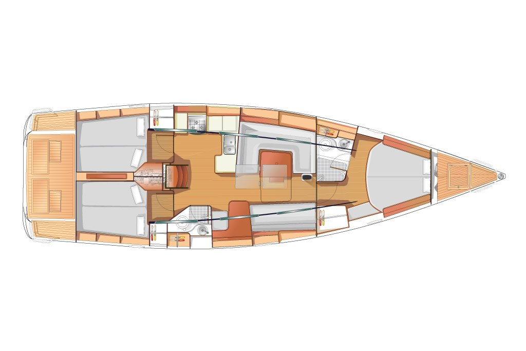 arcona 435 zeilboot interior