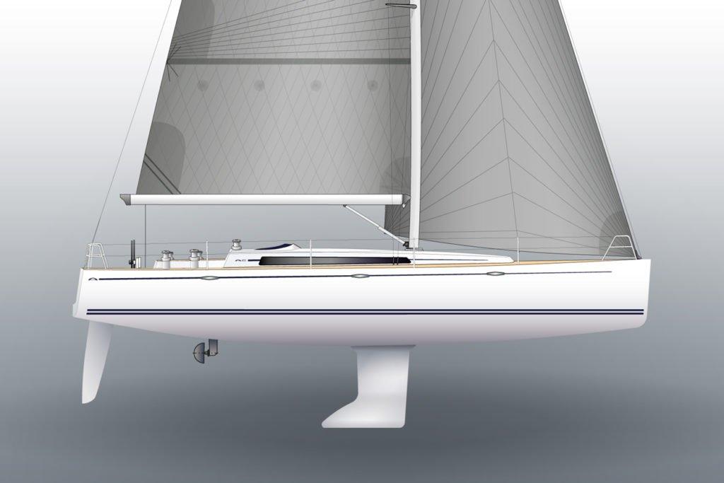 arcona 435 zeilboot linedrawing cut