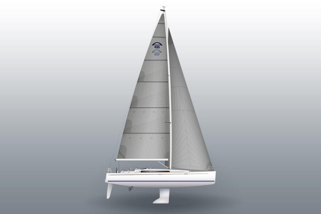 arcona 435 zeilboot linedrawing keel
