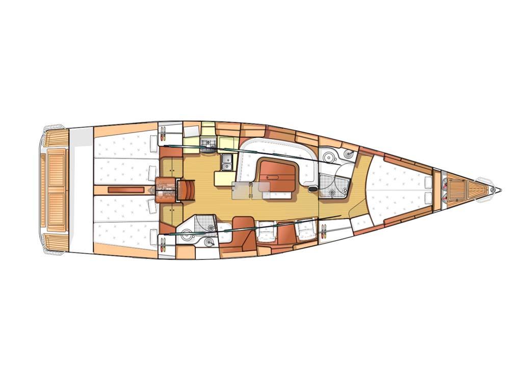 arcona 465 zeilboten interieur v2